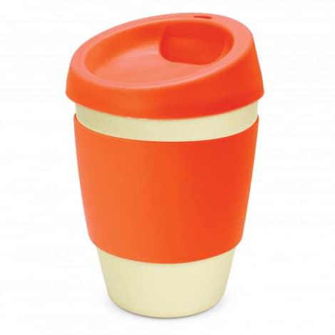 Metro Bamboo Cup Logo Promotional Reusable Coffee Cup 116266 Orange