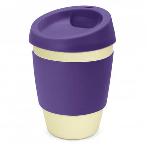 Metro Bamboo Cup Logo Promotional Reusable Coffee Cup 116266 Purple