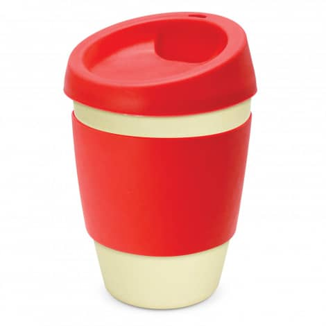 Metro Bamboo Cup Logo Promotional Reusable Coffee Cup 116266 Red