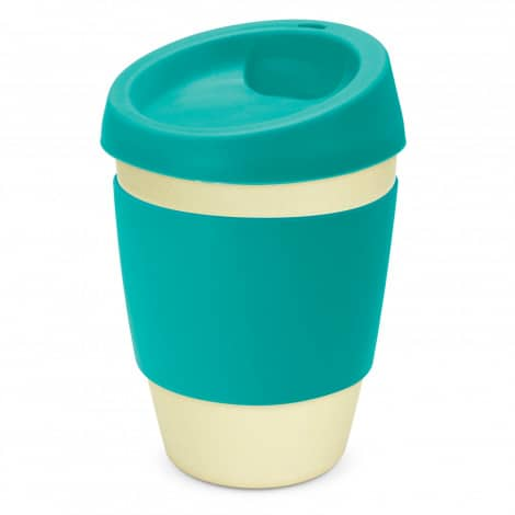 Metro Bamboo Cup Logo Promotional Reusable Coffee Cup 116266 Teal