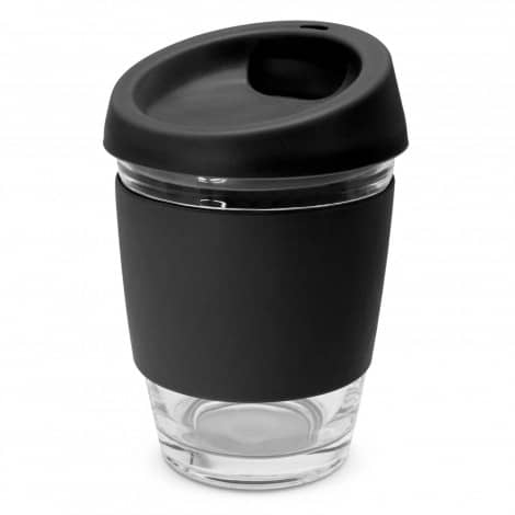 Metro Glass Cup Logo Promotional Reusable Coffee Cup 113053 Black