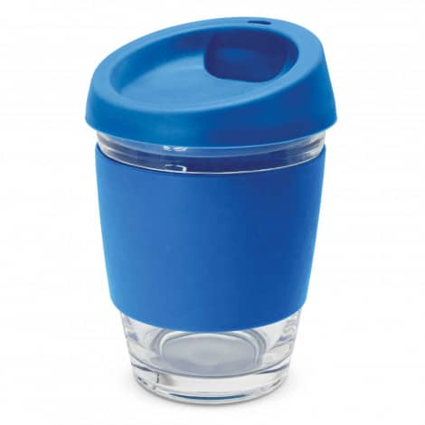 Metro Glass Cup Logo Promotional Reusable Coffee Cup 113053 Dark Blue