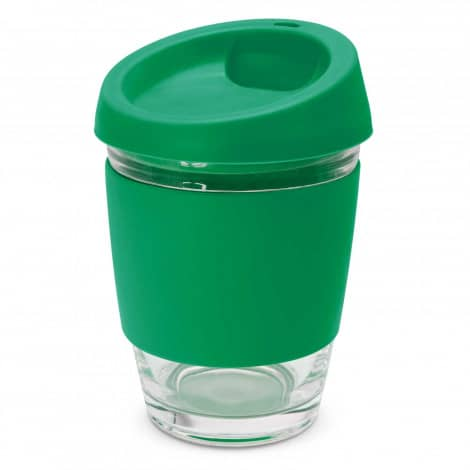 Metro Glass Cup Logo Promotional Reusable Coffee Cup 113053 Green
