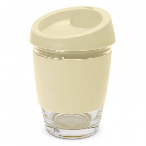 Metro Glass Cup Logo Promotional Reusable Coffee Cup 113053 Natural