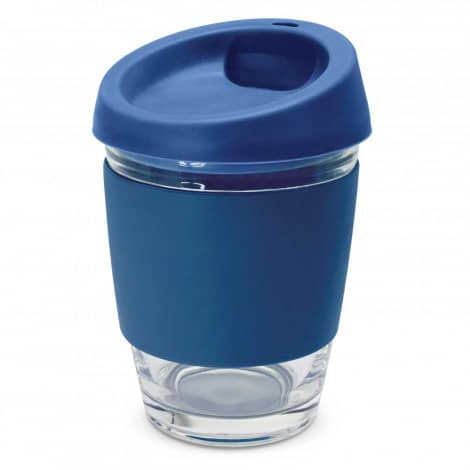 Metro Glass Cup Logo Promotional Reusable Coffee Cup 113053 Navy