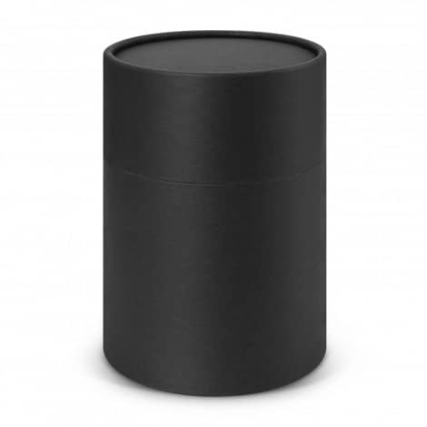 Metro Glass Cup Logo Promotional Reusable Coffee Cup 113053 in black gift tube