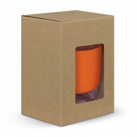Metro Glass Cup Logo Promotional Reusable Coffee Cup 113053 in gift box