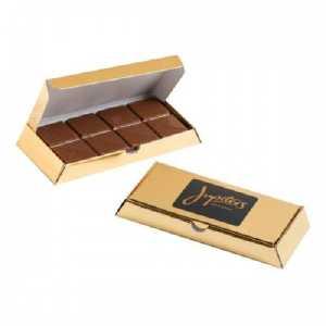 Milk Chocolate Bar in GoldSilver Bullion Box CACC009E Gold