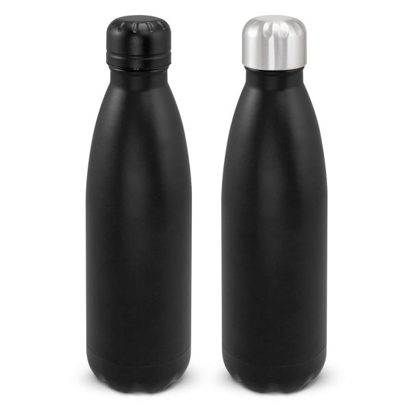 Mirage Powder Coated Vacuum Drink Bottle with Push Button Lid 116525 Black
