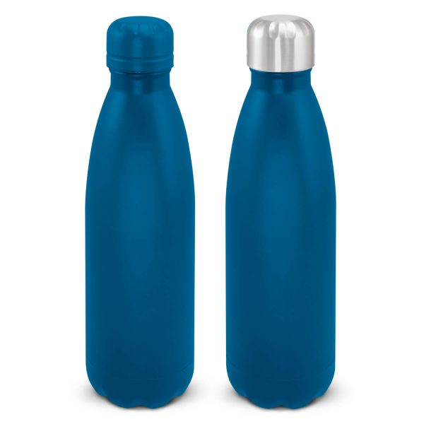 Mirage Powder Coated Vacuum Drink Bottle with Push Button Lid 116525 Blue