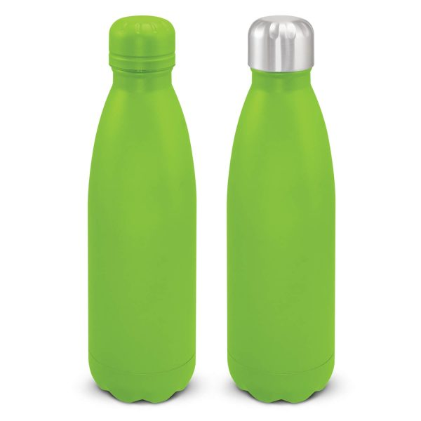 Mirage Powder Coated Vacuum Drink Bottle with Push Button Lid 116525 Lime Green