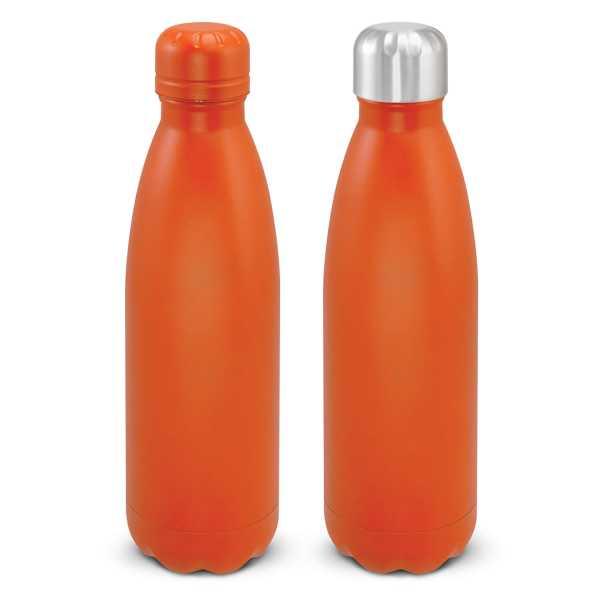 Mirage Powder Coated Vacuum Drink Bottle with Push Button Lid 116525 Orange
