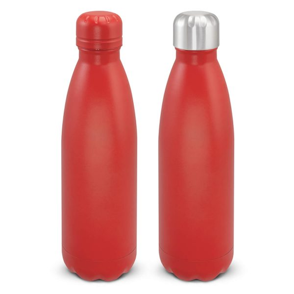 Mirage Powder Coated Vacuum Drink Bottle with Push Button Lid 116525 Red