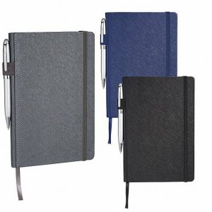Modena Bound JournalBook CAJB1012BK Grey Black Blue