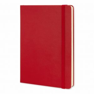 Moleskine® Classic Hard Cover Notebook Large 117221 Red
