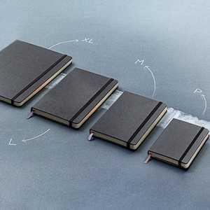 Moleskine® Classic Hard Cover Notebook Pocket 117216 Black 4 Sizes