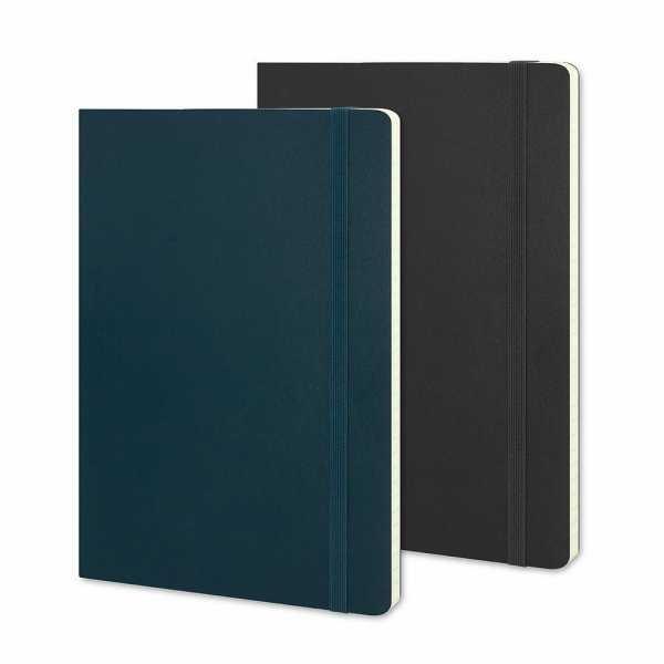 Moleskine® Classic Soft Cover Notebook Large CA117223 Blue Black