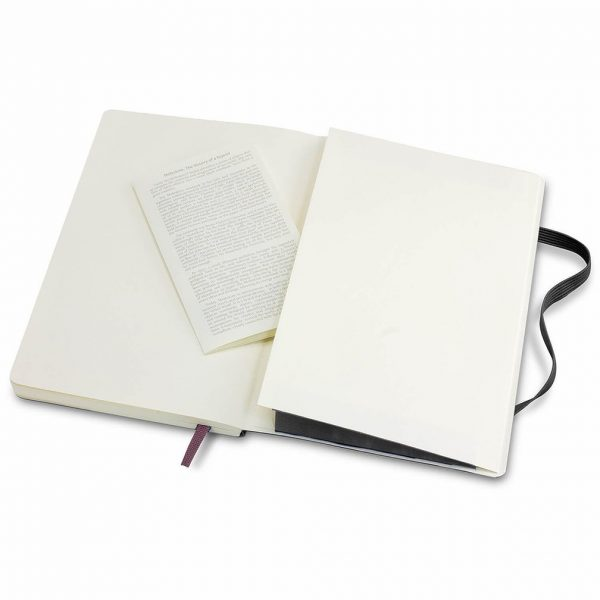 Moleskine® Classic Soft Cover Notebook Large CA117223 Open Back