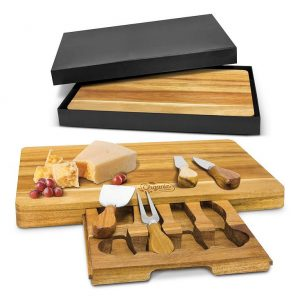 Montgomery Cheese Board CA115957 Natural in Black Gift Box