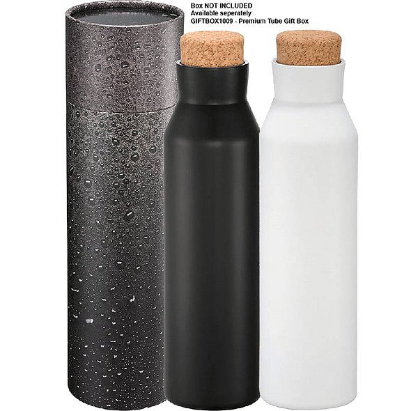 Norse Copper Vacuum Insulated Bottle 590ml 4089 Black Gift Tube
