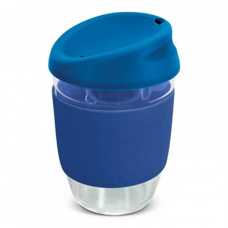Nova Cup Borosilicate 350ml Logo Promotional Reusable Coffee Cup 117372 Dark Blue