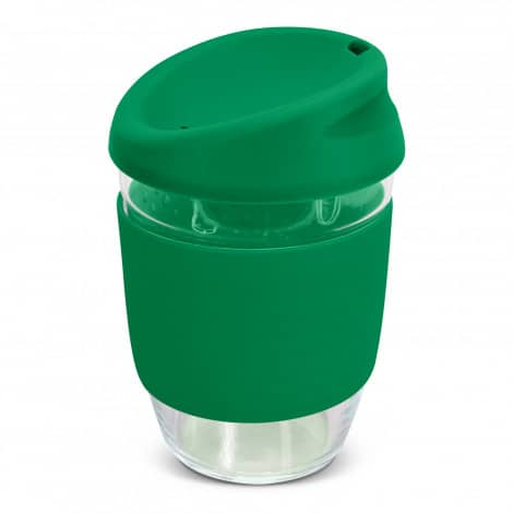 Nova Cup Borosilicate 350ml Logo Promotional Reusable Coffee Cup 117372 Green