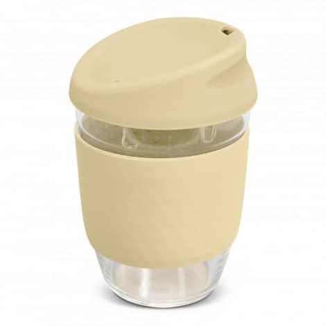 Nova Cup Borosilicate 350ml Logo Promotional Reusable Coffee Cup 117372 Natural