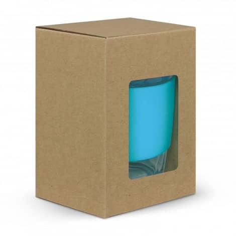 Nova Cup Borosilicate 350ml Logo Promotional Reusable Coffee Cup 117372 gift box