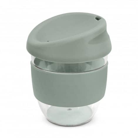 Nova Cup Tritan Clear Plastic 230ml Logo Promotional Reusable Coffee Cup 200307 Grey