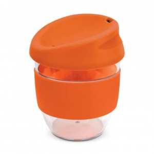 Nova Cup Tritan Clear Plastic 230ml Logo Promotional Reusable Coffee Cup 200307 Orange
