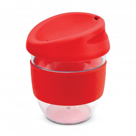 Nova Cup Tritan Clear Plastic 230ml Logo Promotional Reusable Coffee Cup 200307 Red