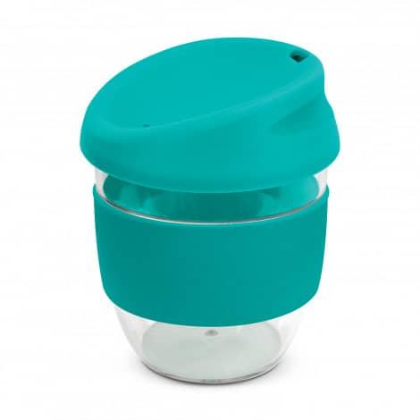 Nova Cup Tritan Clear Plastic 230ml Logo Promotional Reusable Coffee Cup 200307 Teal