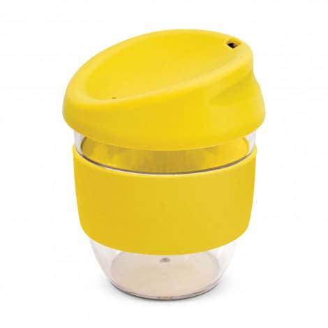 Nova Cup Tritan Clear Plastic 230ml Logo Promotional Reusable Coffee Cup 200307 Yellow