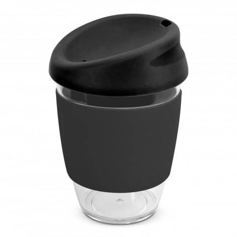 Nova Cup Tritan Clear Plastic 340ml Logo Promotional Reusable Coffee Cup 200306 Black