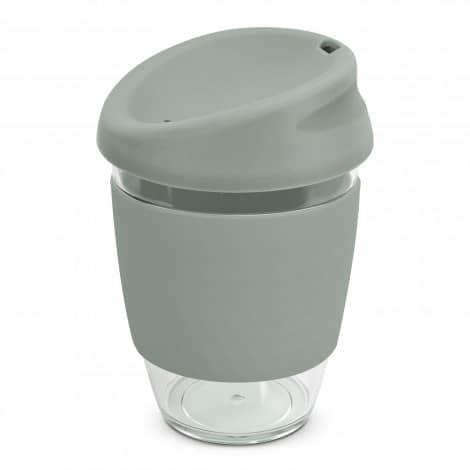Nova Cup Tritan Clear Plastic 340ml Logo Promotional Reusable Coffee Cup 200306 Grey