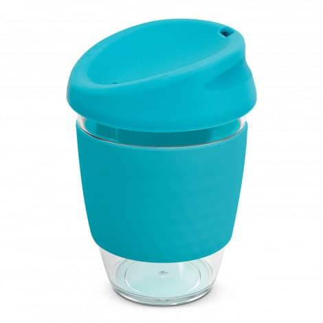 Nova Cup Tritan Clear Plastic 340ml Logo Promotional Reusable Coffee Cup 200306 Light Blue