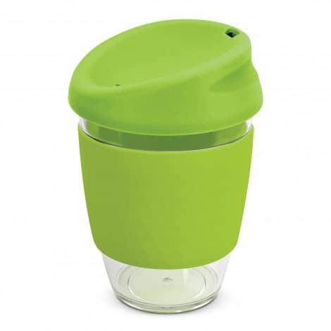 Nova Cup Tritan Clear Plastic 340ml Logo Promotional Reusable Coffee Cup 200306 Lime Green