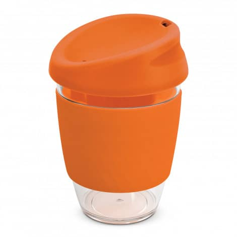 Nova Cup Tritan Clear Plastic 340ml Logo Promotional Reusable Coffee Cup 200306 Orange