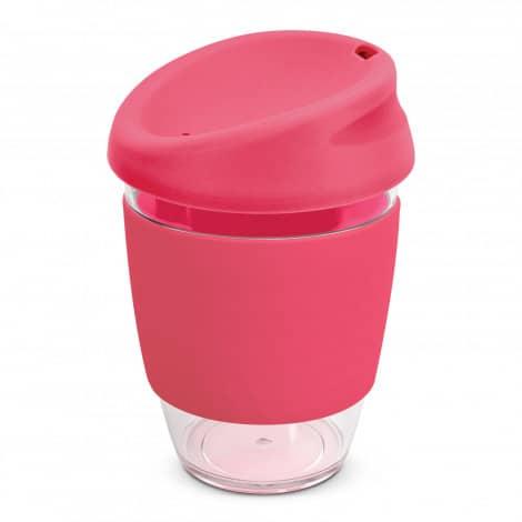 Nova Cup Tritan Clear Plastic 340ml Logo Promotional Reusable Coffee Cup 200306 Pink