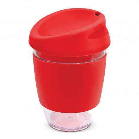 Nova Cup Tritan Clear Plastic 340ml Logo Promotional Reusable Coffee Cup 200306 Red