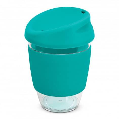Nova Cup Tritan Clear Plastic 340ml Logo Promotional Reusable Coffee Cup 200306 Teal
