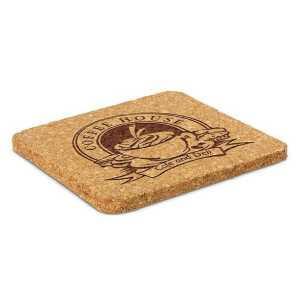 Oakridge Cork Coaster CA112966 Square Branded