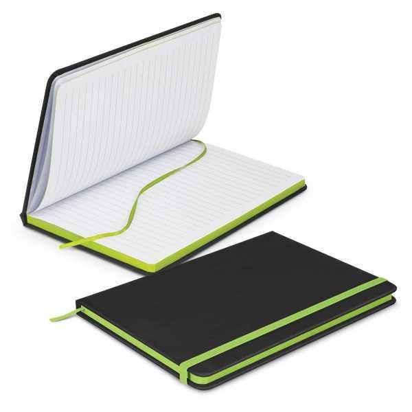 Omega Black Notebook 113892 Lime Green