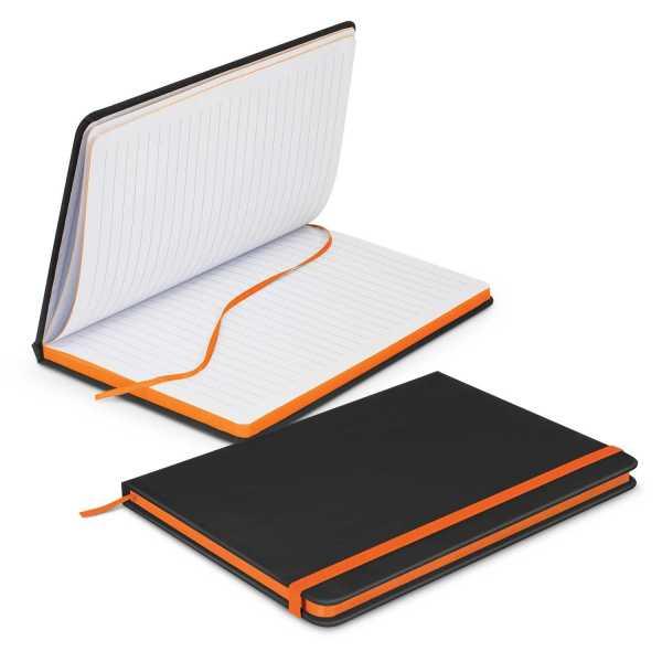 Omega Black Notebook 113892 Orange