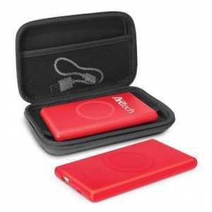 Omni Wireless Power Bank CA115564B Red in Black Case