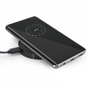 Orbit Wireless Charger CA112656 Black with phone