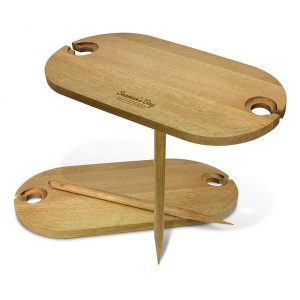 Outdoor Wine Table CA115961 Natural Branded