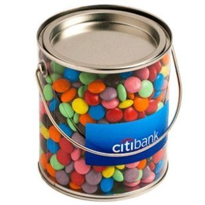 PVC Bucket filled with Choc Beans CACC005B Clear Large