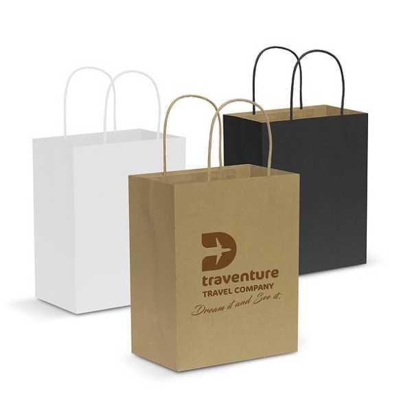 Paper Carry Bag CA107586 Black White Natural Medium