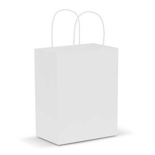 Paper Carry Bag CA107586 White Medium
